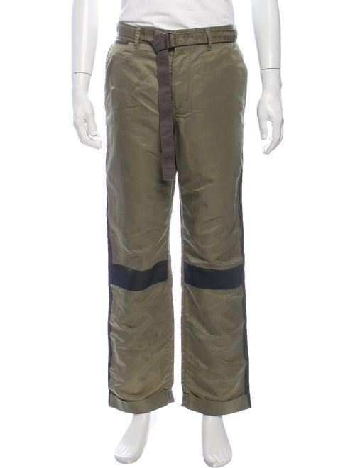 Sacai Striped Pants Green