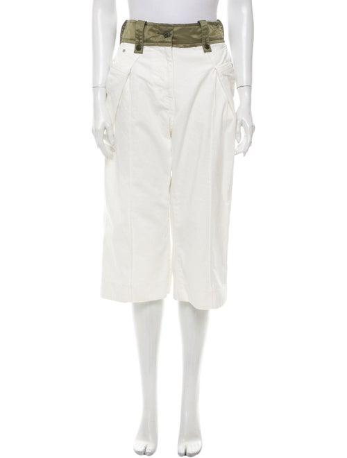 Sacai Wide Leg Pants White