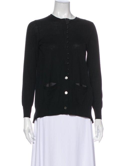 Sacai Crew Neck Sweater Black