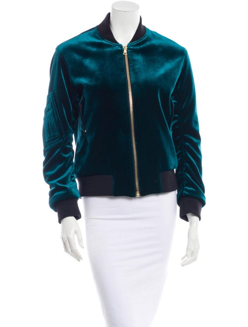 96b2e297f Sandro Ventura Velvet Bomber Jacket - Clothing - WS220481   The RealReal