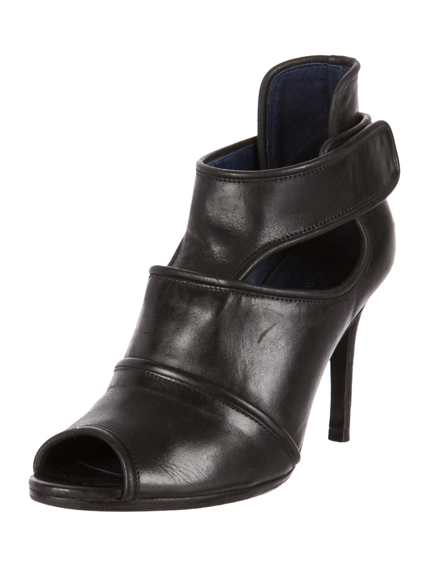 sandro leather ankle boots shoes ws221791 the realreal