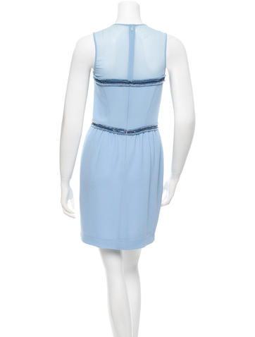 Chain-Accented Sheath Dress
