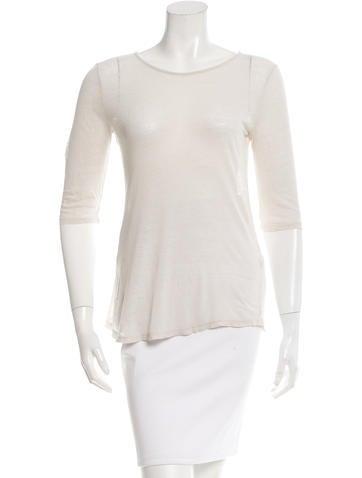 Sandro Silk Scoop Neck T-Shirt