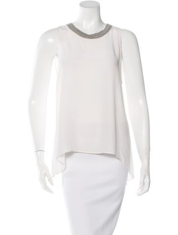 Sandro Silk Sleeveless Top None