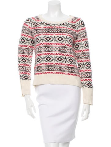 Sandro Wool-Blend Patterned Sweater None