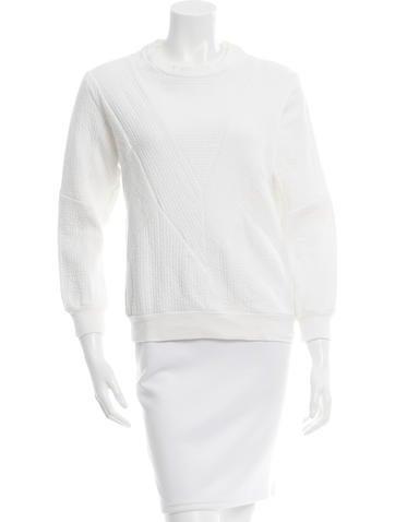 Sandro Textured Crew Neck Sweater None