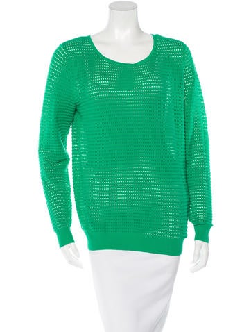 Sandro Perforated Knit Sweater w/ Tags None