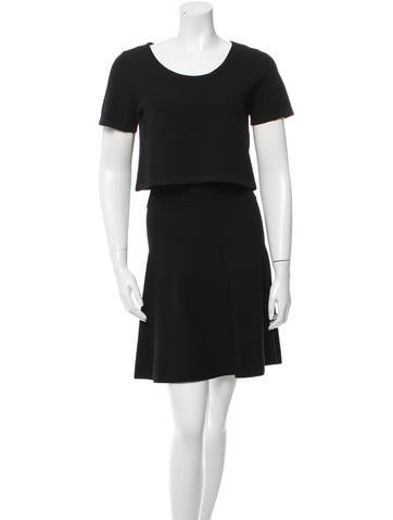 Sandro Crew Neck Mini Dress None