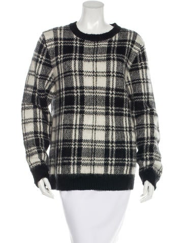 Sandro Knit Plaid Sweater None