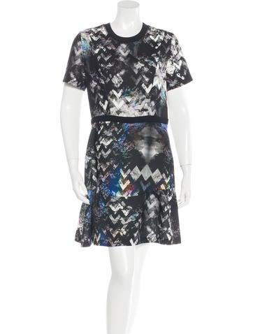 Sandro Trompe L'oeil A-Line Dress w/ Tags None