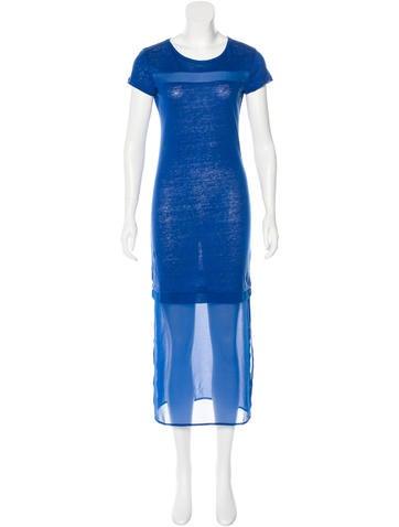 Sandro Linen Maxi Dress