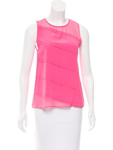 Sandro Silk Sleeveless Top