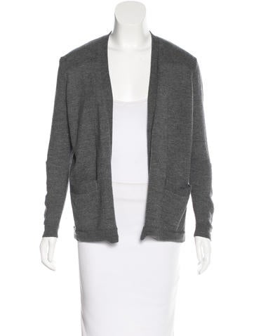 Sandro Wool Open Front Cardigan None