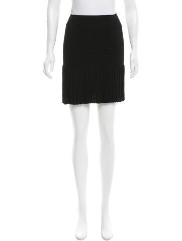Sandro Rib Knit Mini Skirt None