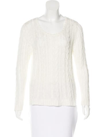 Sandro Open-Knit Long Sleeve Sweater None