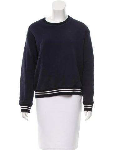 Sandro Navy Crew Neck Sweatshirt None