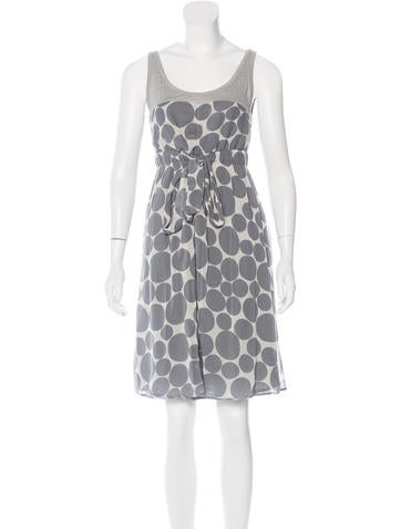 Sandro Polka Dot Print Knee-Length Dress None