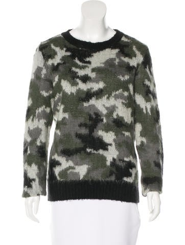 Sandro Abstract Patterned Knit Sweater None