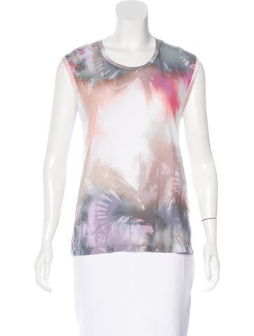 Sandro Sleeveless Water Color Top