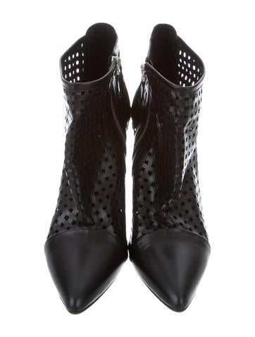 Perforated Wedge Booties