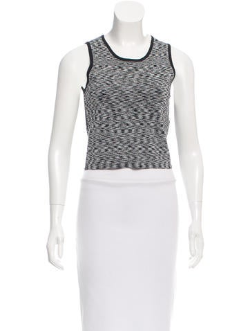 Sandro Knit Crop Top None