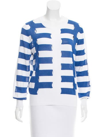 Sandro Striped Cutout Sweater None