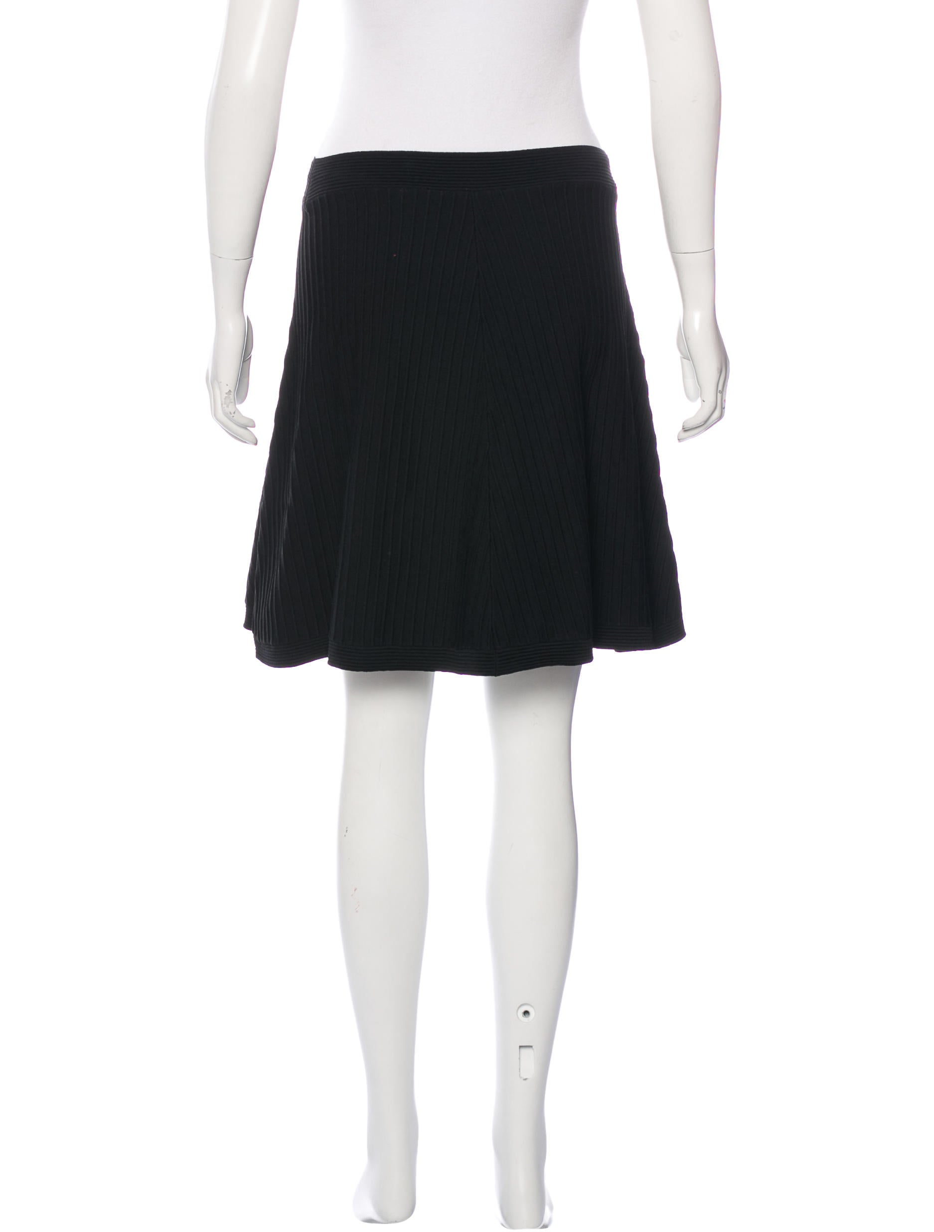 sandro knit a line skirt clothing ws225748 the realreal