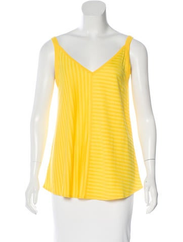Sandro Striped Sleeveless Top w/ Tags None