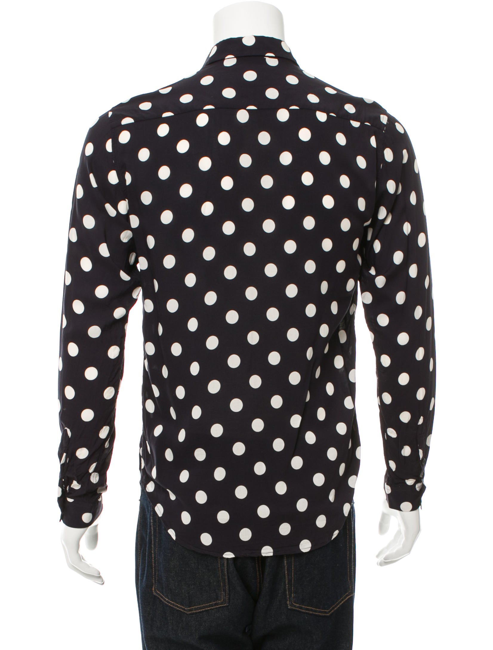 Sandro Woven Polka Dot Print Shirt - Clothing