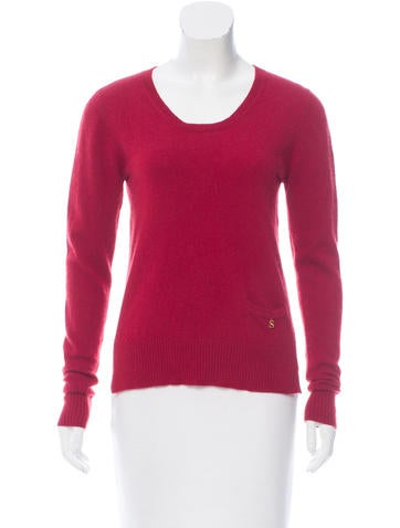 Sandro Slit-Accented Rib Knit Sweater None