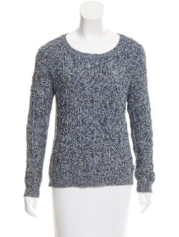 Sandro Long Sleeve Knit Sweater None