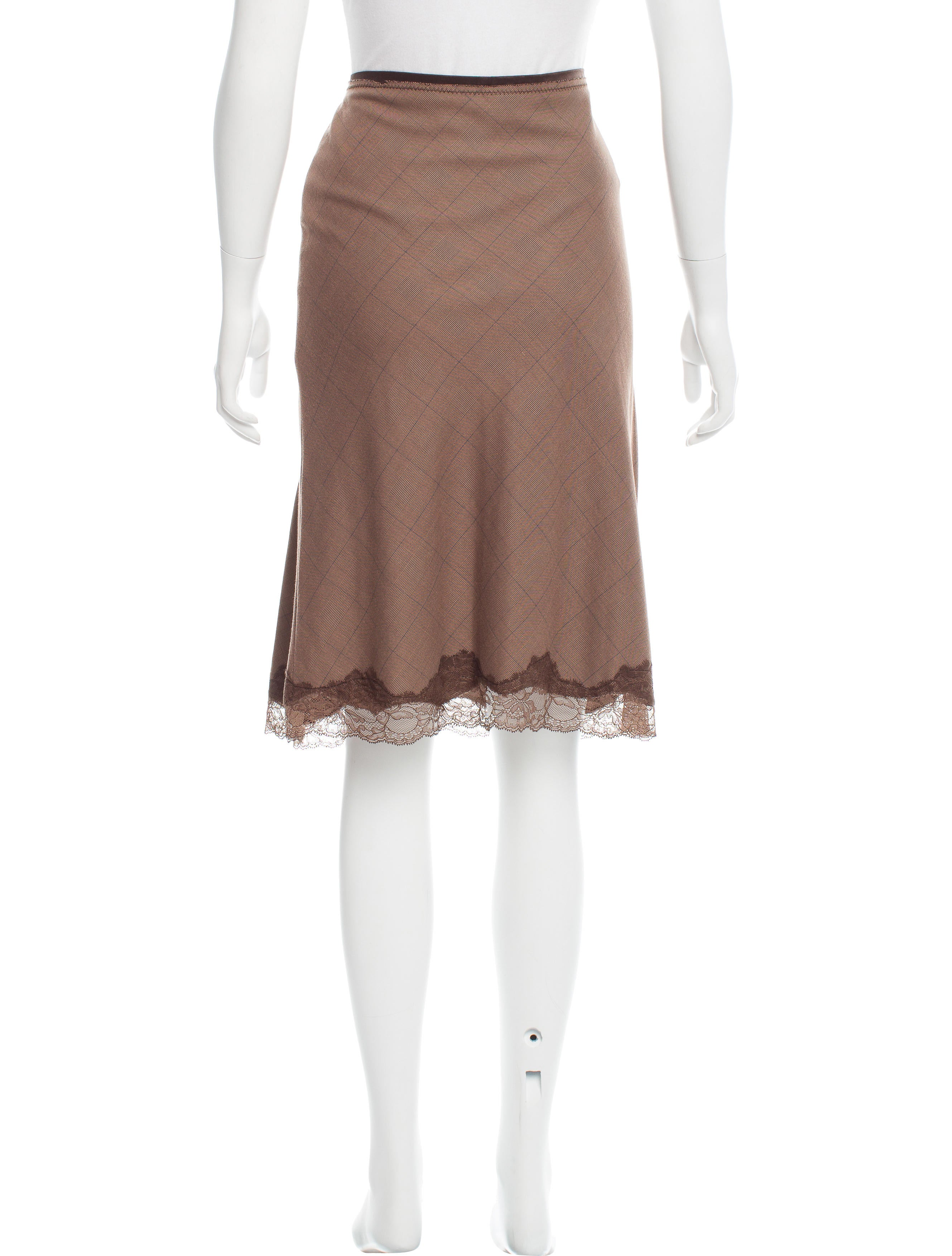 sandro plaid knee length skirt clothing ws226306 the