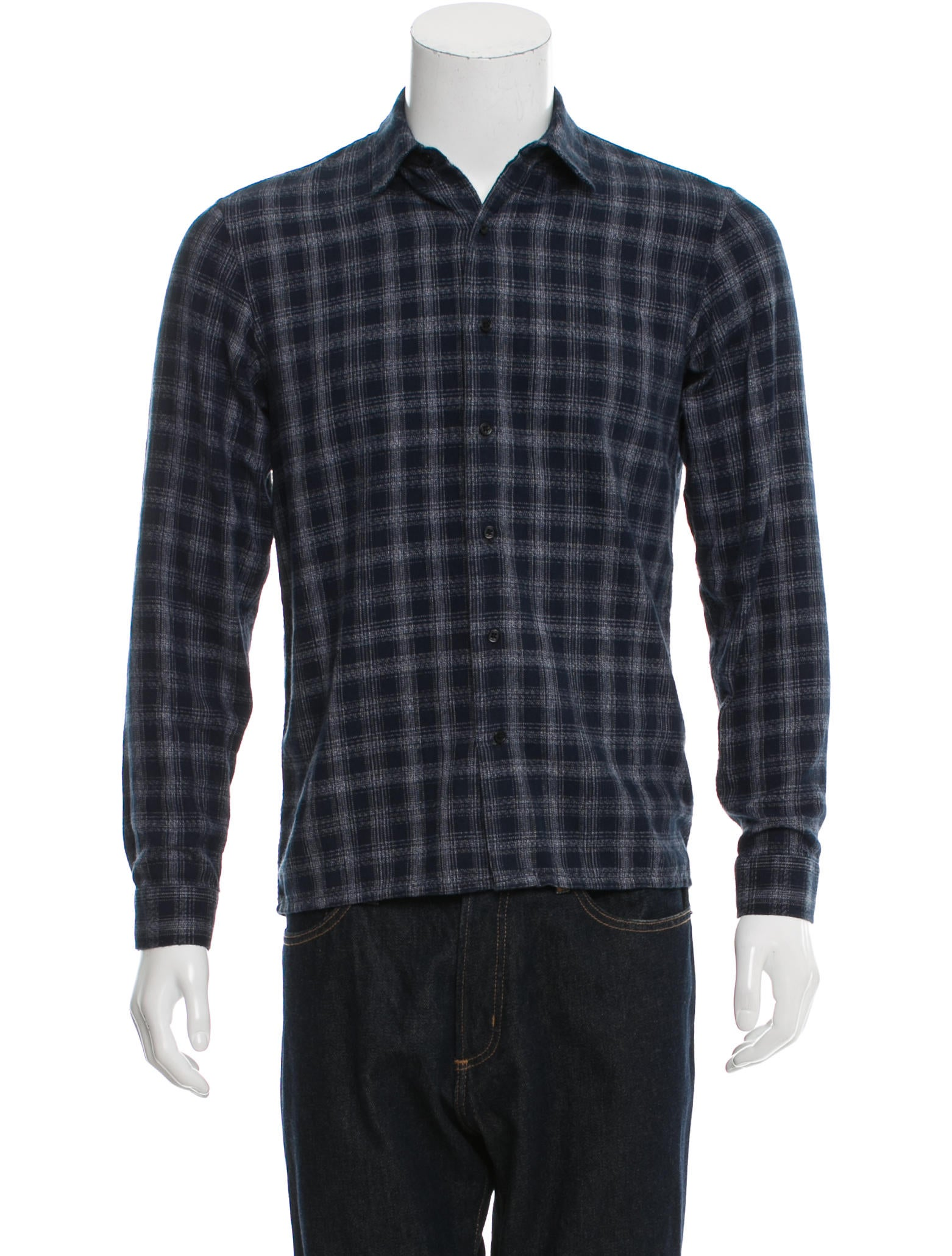Sandro window check flannel button up shirt clothing for Button up flannel shirts