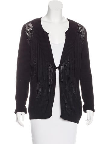 Sandro Knit Open Front Cardigan None