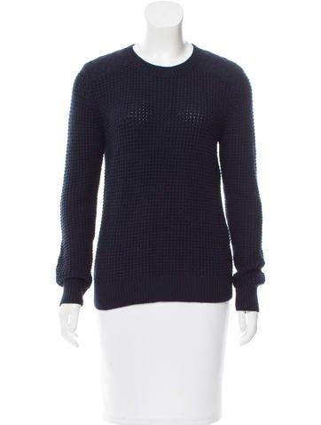 Sandro Wool Rib Knit Sweater None