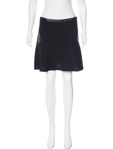 Sandro Leather-Trimmed Mini Skirt None