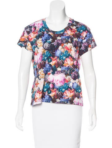 Sandro Floral Short-Sleeve T-Shirt None