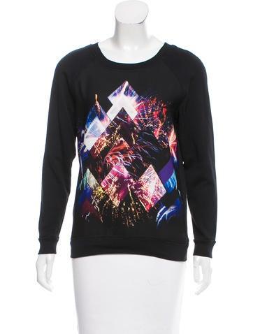 Sandro Printed Pullover Sweatshirt None