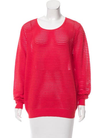 Sandro Perforated Knit Sweater None