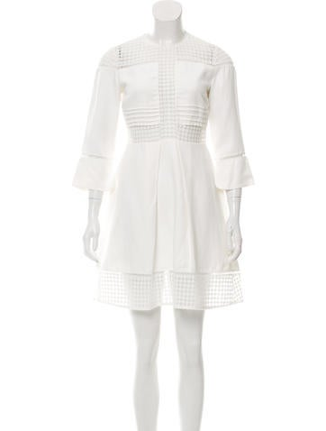 Sandro Embroidered Mini Dress None