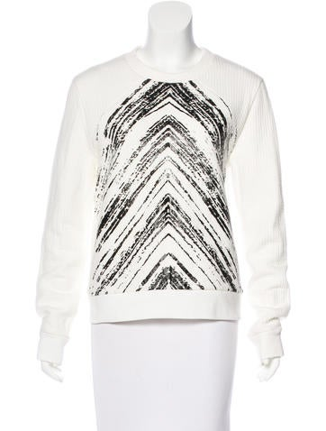 Sandro Printed Knit Sweater None