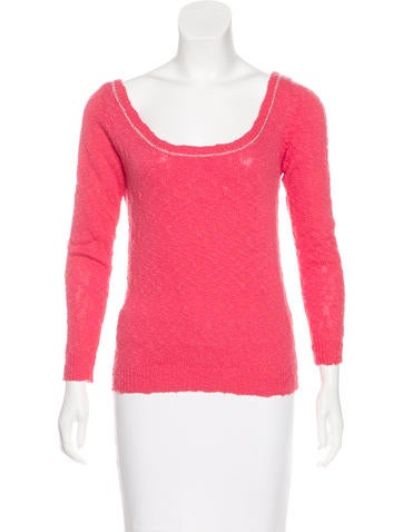 Sandro Knit Scoop Neck Top None
