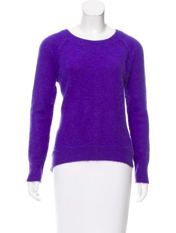 Sandro Angora Blend Knit Sweater None