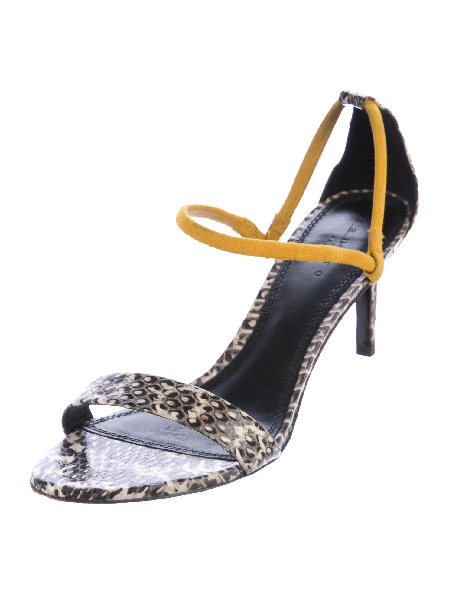 Sandro Snakeskin Ankle-Strap Sandals cheap recommend n2AyNBQ