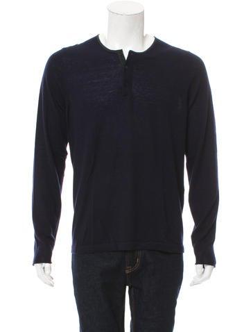 Sandro Wool  Henley Sweater None