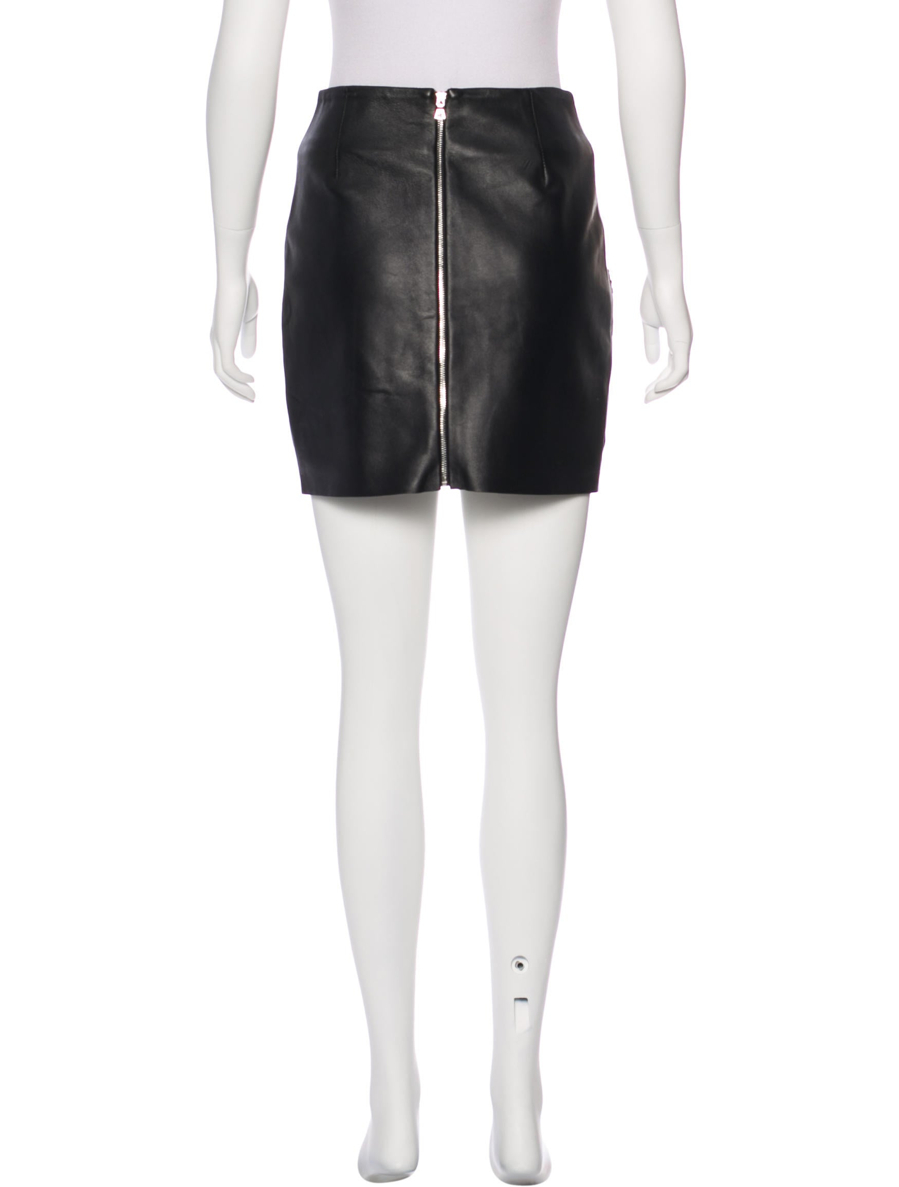sandro embroidered leather skirt clothing ws228095