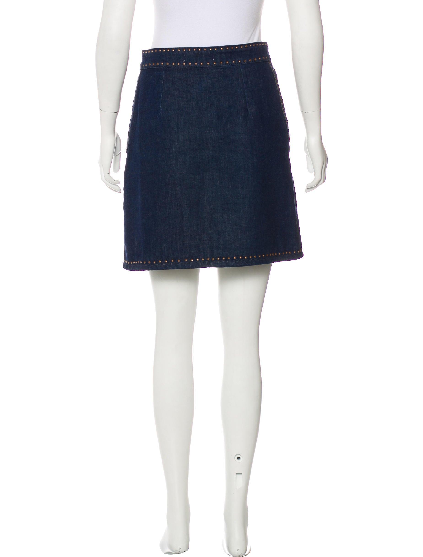 sandro embellished denim skirt clothing ws228126 the
