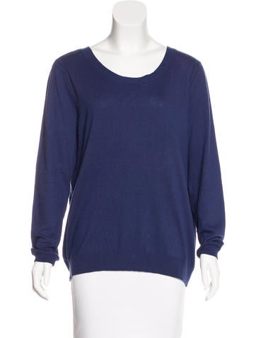Sandro Silk-Blend Long Sleeve Sweater None
