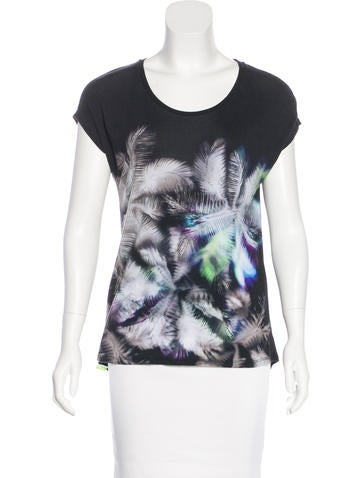 Sandro Printed Sleeveless Top None