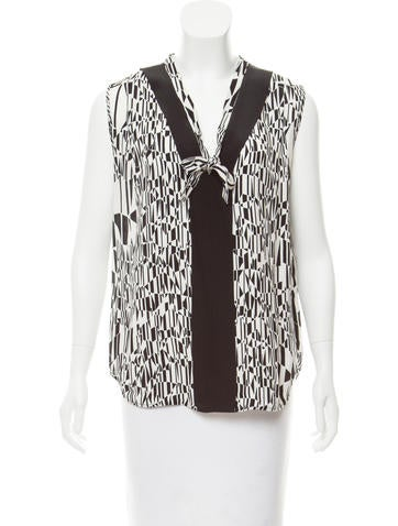 Sandro Sleeveless Printed Top None